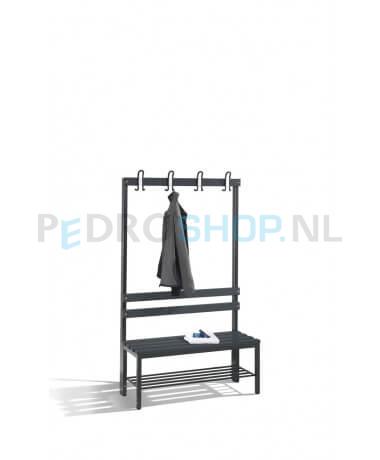 Schoenenrek 100 Cm.Cp Select Garderobezitbank Met Garderobehaken En Schoenenrek